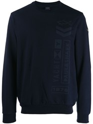 Paul And Shark Sweatshirt With Graphic Details Blue