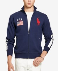 Polo Ralph Lauren Men's Graphic Full Zip Track Jacket French Navy