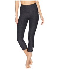 Lorna Jane Accelerate Core 7 8 Tights Black Marl Workout Gray