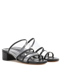 Maryam Nassir Zadeh Martina Leather Slip On Sandals Black