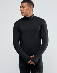 Nicce London Long Sleeve T Shirt With Turtle Neck Black
