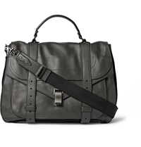 Proenza Schouler Ps1 Extra Large Leather Satchel Gray