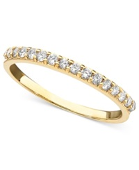 Macy's Diamond Ring In 14K White Or Yellow Gold 1 4 Ct. T.W.