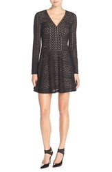 Women's Bcbgmaxazria 'Kinley' Knit Sweater Fit And Flare Dress
