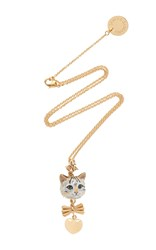 Dolce And Gabbana Cat Necklace Gold