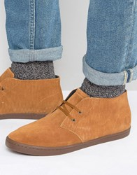 Fred Perry Byron Suede Mid Chukka Boots Tan