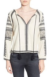 Women's Pam And Gela Embroidered Peasant Blouse
