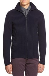 Men's Zachary Prell 'Goldhawk' Merino Wool And Cashmere Zip Sweater