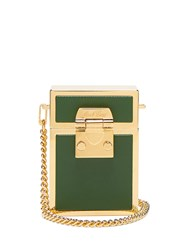 Mark Cross Nicole Leather And Gold Plated Bag Dark Green