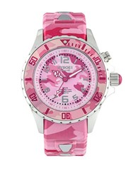 Kyboe Camo Stainless Steel Strap Watch Pink