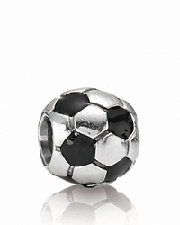 Pandora Design Pandora Charm Sterling Silver And Enamel Soccer Ball Moments Collection Silver Black