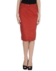 Ean 13 Knee Length Skirts Red