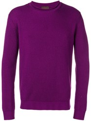 Altea Ribbed Knit Sweater Pink And Purple