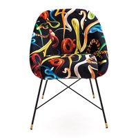 Seletti Wears Toiletpaper Upholstered Padded Chair Snakes