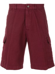 Loro Piana Cargo Shorts Cotton Linen Flax Red