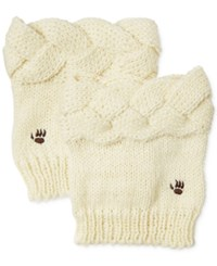 Bearpaw Cable Knit Boot Toppers Women's Shoes Ivory