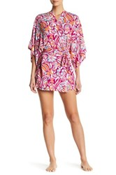 Josie Groovy Ribbons Happi Coat Robe Pink