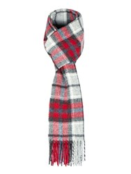 Paul Costelloe Enford Check Lambswool Scarf Red