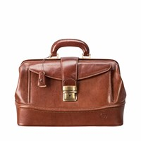 Maxwell Scott Bags The Donninis Small Luxury Tan Leather Medical Bag Brown