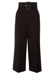 Givenchy High Waisted Twill Culottes Black