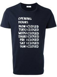 Closed Printed T Shirt Blue