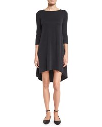 Alice Olivia Arias 3 4 Sleeve T Shirt Dress Black