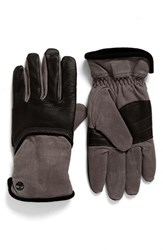 Timberland Men's Leather And Canvas Gloves