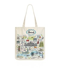 Harrods London Map Tote Bag Ivory