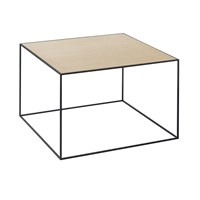 By Lassen Twin Table White And Oak Large