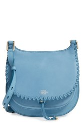 Vince Camuto Small Lidia Leather Crossbody Bag Blue Blue Heaven