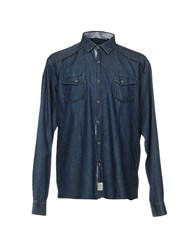 Massimo Rebecchi Denim Shirts Blue