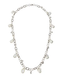 Assael 18K Long Freshwater Pearl And Moonstone Link Necklace Women's