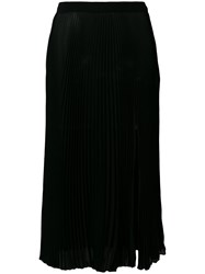 Versace Pleated Midi Skirt Black