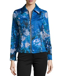 Berek Hybrid Graphic Print Jacket Blue