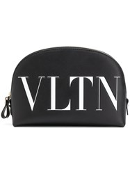 Valentino Logo Make Up Bag Black