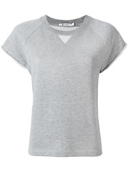 Alexander Wang T By Cap Sleeve Raglan Sweatshirt Grey