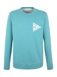 Racing Green Evans Washed Logo Sweatshirt Blue