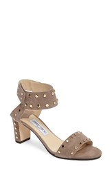 Jimmy Choo Women's 'Veto' Studded Sandal Light Mocha Gold