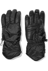 Bogner Baca Padded Leather And Shell Gloves Black