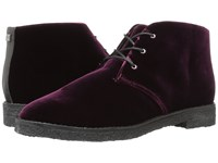 Marc Fisher Dixie Dark Red Fabric Women's Lace Up Boots