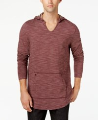 American Rag Men's Grommet Hoodie Created For Macy's Dark Scarlet
