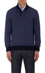Ermenegildo Zegna Men's Cashmere Cotton Mock Turtleneck Sweater Purple