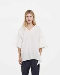 08Sircus Compact Cotton Lawn V Neck Top