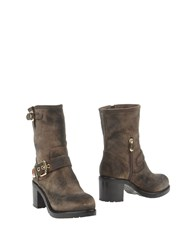 Luciano Padovan Ankle Boots Dark Brown