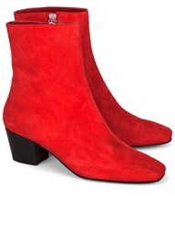 Dorateymur Red Suede Droop Nose Boots