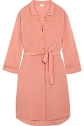 Hanro Lilly Crepe Shirt Dress Blush