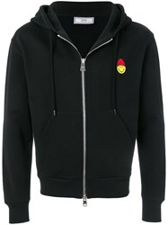 Ami Alexandre Mattiussi Zipped Hoodie With Patch Smiley Black