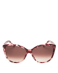 Marc Jacobs Oversized Cat Eye Sunglasses 58Mm Pink Gradient Brown Lens