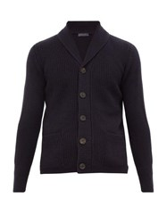 Thom Sweeney Cashmere Knitted Cardigan Navy