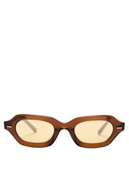 The Row X Oliver Peoples La Cc Sunglasses Brown